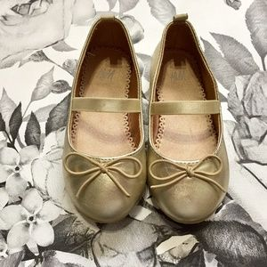 H&M Gold Ballet Flat Dress Shoes